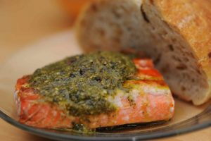 Salmon with Pesto Glaze Recipe