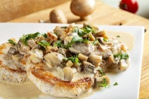 Saucy Mushroom Marsala Pork Chop Casserole Recipe
