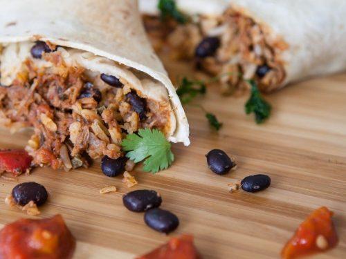 sausage and black bean burritos