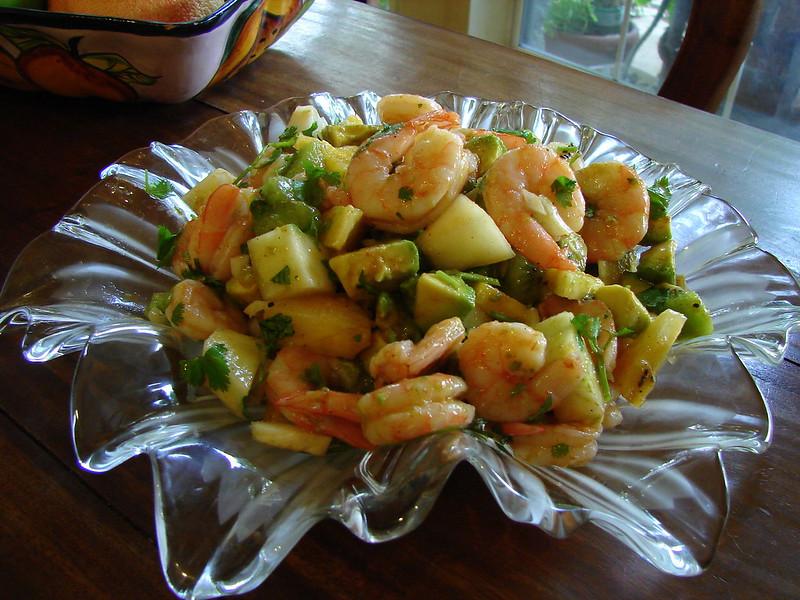 Seafood Saute with Kiwi Recipe