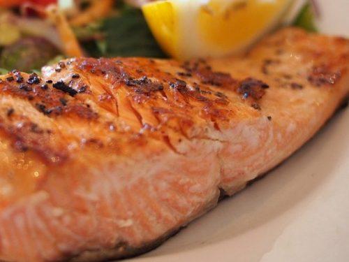 seared salmon with orange glazed