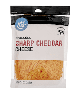 Amazon Brand - Happy Belly Shredded Sharp Cheddar Cheese
