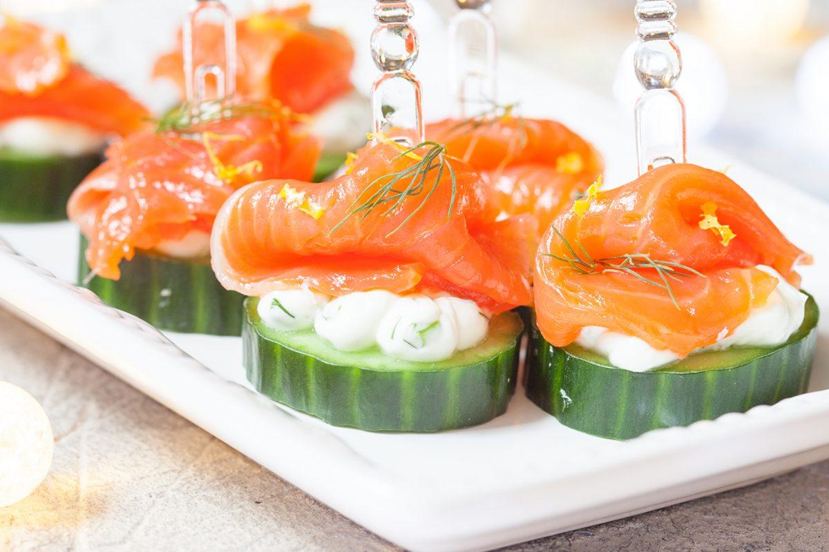 simple salmon snacks