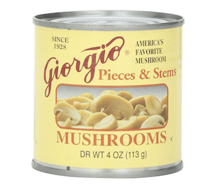 Giorgio Mushrooms Pieces and Stem