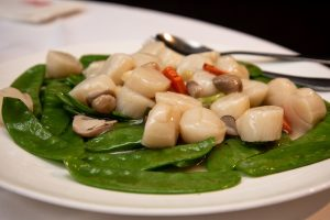 Spicy Scallop Stir Fry with Snap Peas Recipe
