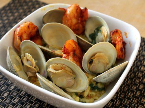 steamed clams and shrimp
