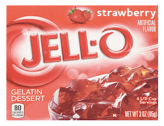 Strawberry Jell-O Gelatin