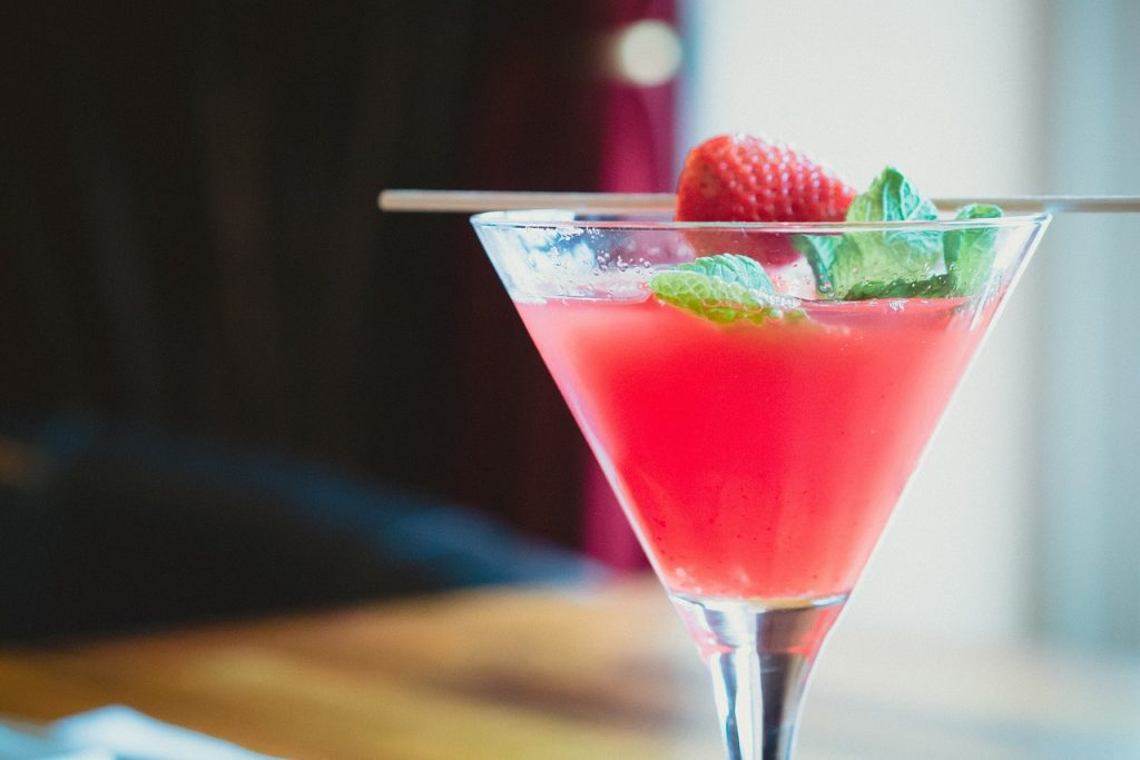 cold strawberry punch