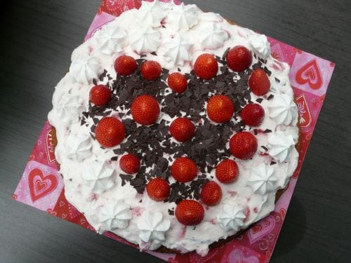 Strawberry Sweetheart Cake Recipe