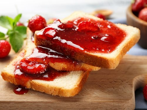 stuffed french toast with strawberry sauces