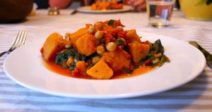 Sweet Potato Curry with Spinach and Chickpeas Recipe