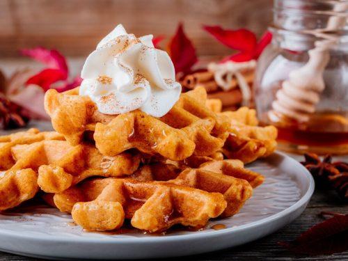 Sweet Potato Waffles Recipe, gluten free vegan sweet potato waffles made with almond milk