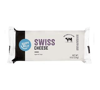 Amazon Brand - Happy Belly Swiss Cheese Block