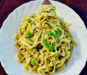 Tagliatelle with Shiitake Mushrooms and Asparagus Recipe