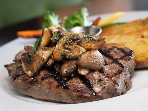 teriyaki mushrooms and steak teriyaki steak