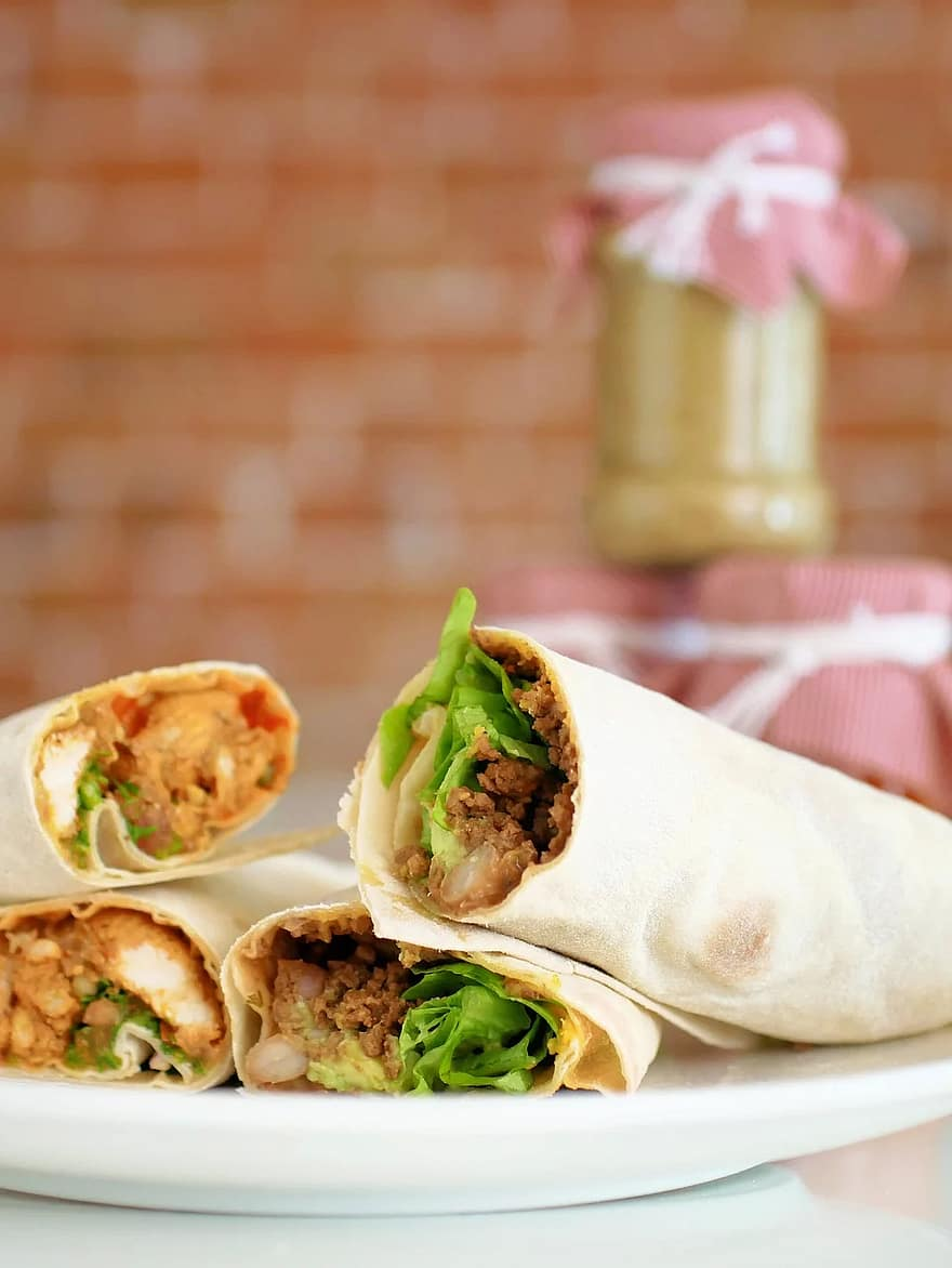delicious thai chicken wrap