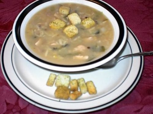 turkey, lentil and orzo soup with turnips