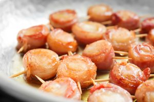 Watermelon and Sea Scallops Wrapped in Prosciutto Recipe
