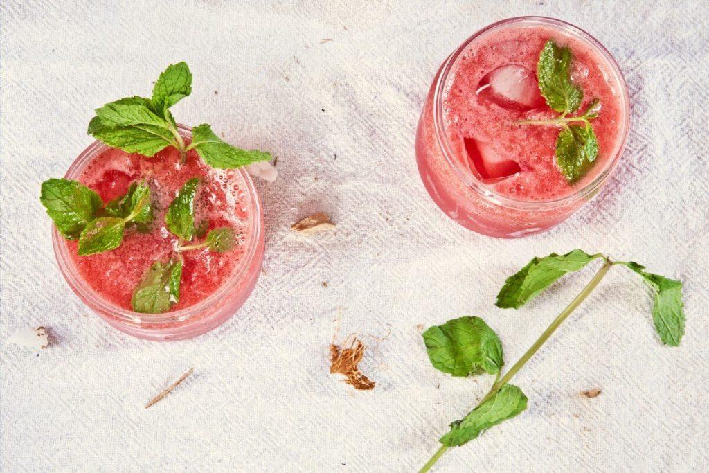 cold watermelon apple mint ice