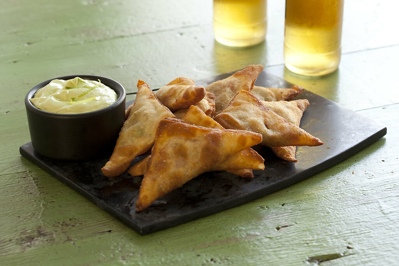 Wonton Dippers with Creamy Chili Mustard Dip Recipe