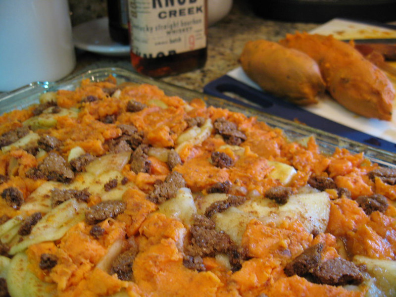 yams with cranberries and apples