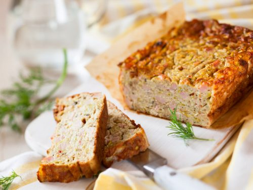 Baked Salmon Loaf Recipe, loaf of bread made with salmon flakes