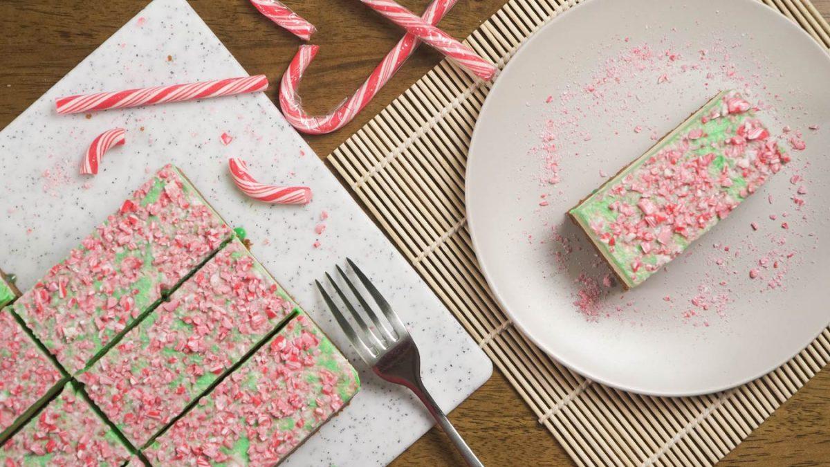 Christmas Mint Cheesecake Bars Recipe