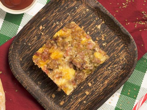 Christmas Breakfast Casserole Recipe - easy breakfast sausage casserole with eggs and cheese
