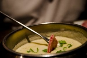Copycat Melting Pot Spinach Artichoke Cheese Fondue Recipe