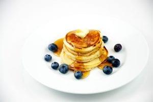 Powder Sugar Pancakes with Blueberries Recipe
