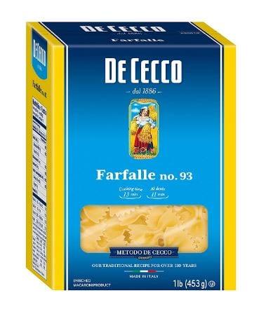 De Cecco Pasta, Farfalle