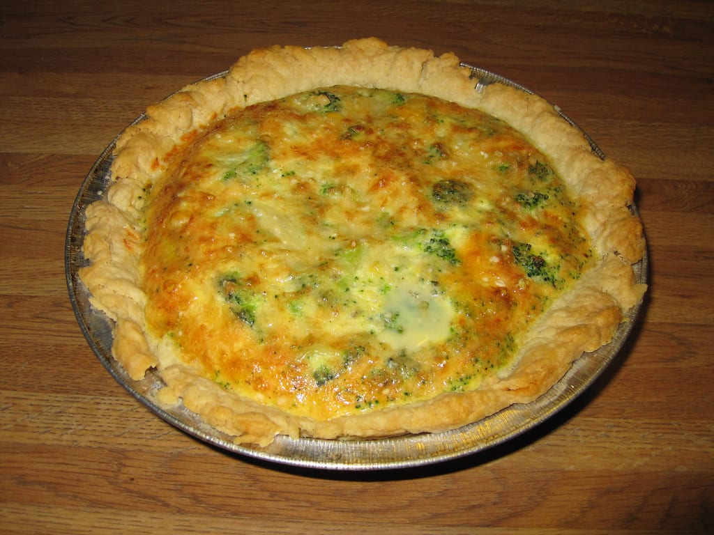 Broccoli & Peas Quiche Recipe