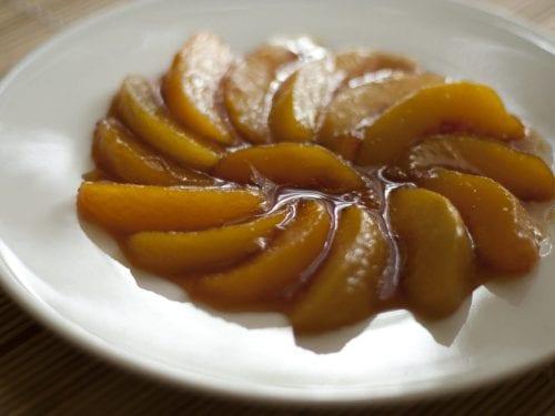 caramel peaches