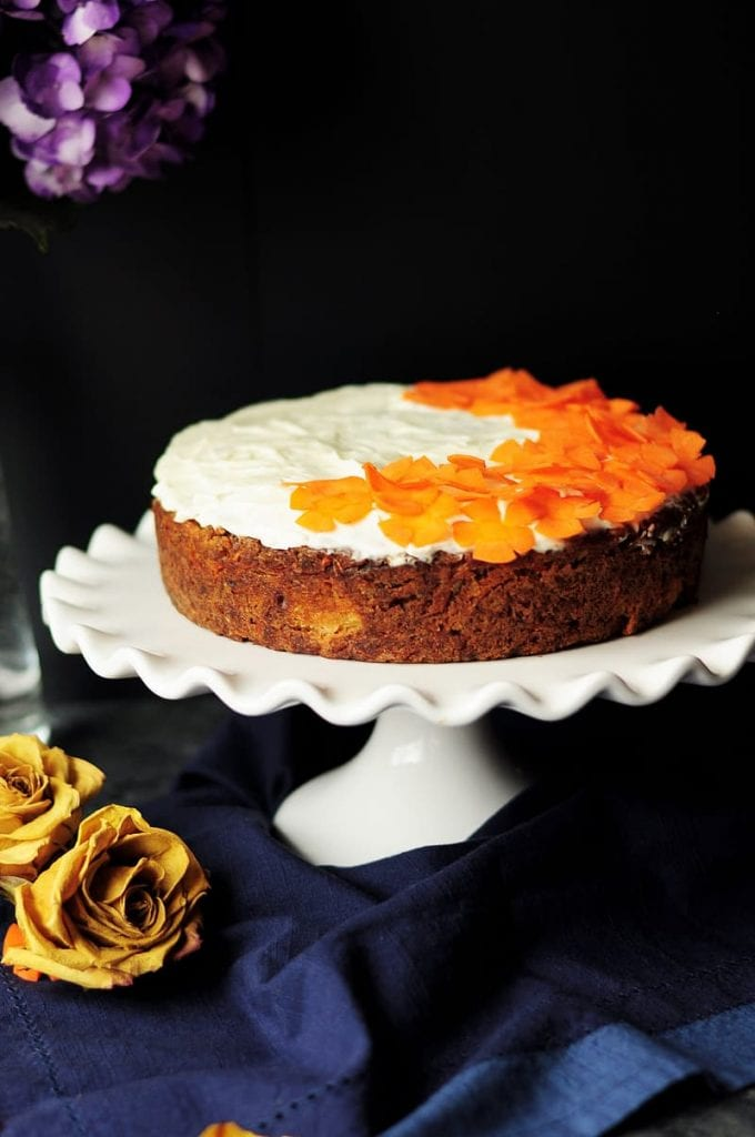 Carrot Orange Bundt Cake with Candied Carrot Curls Recipe