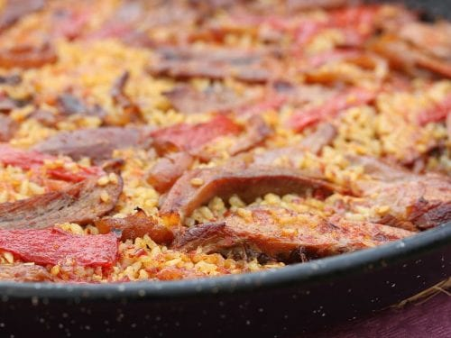 delicious chicken,sausage and rice casserole