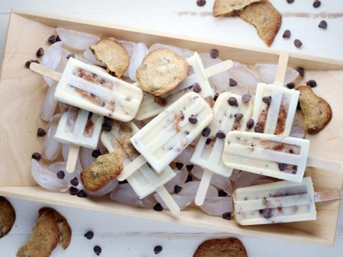 Chocolate Chip Cookie Dough Popsicle