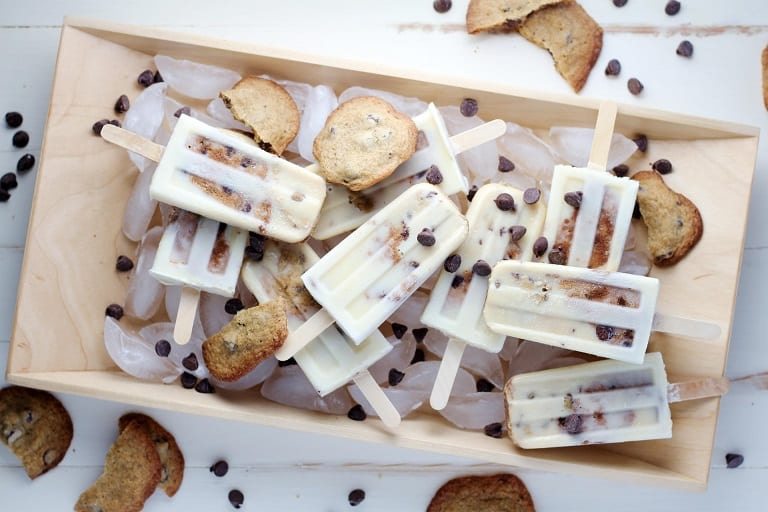 Chocolate Chip Cookie Dough Popsicle Recipe