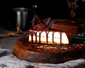 Classic Cheesecake Drizzled In Chocolate Recipe