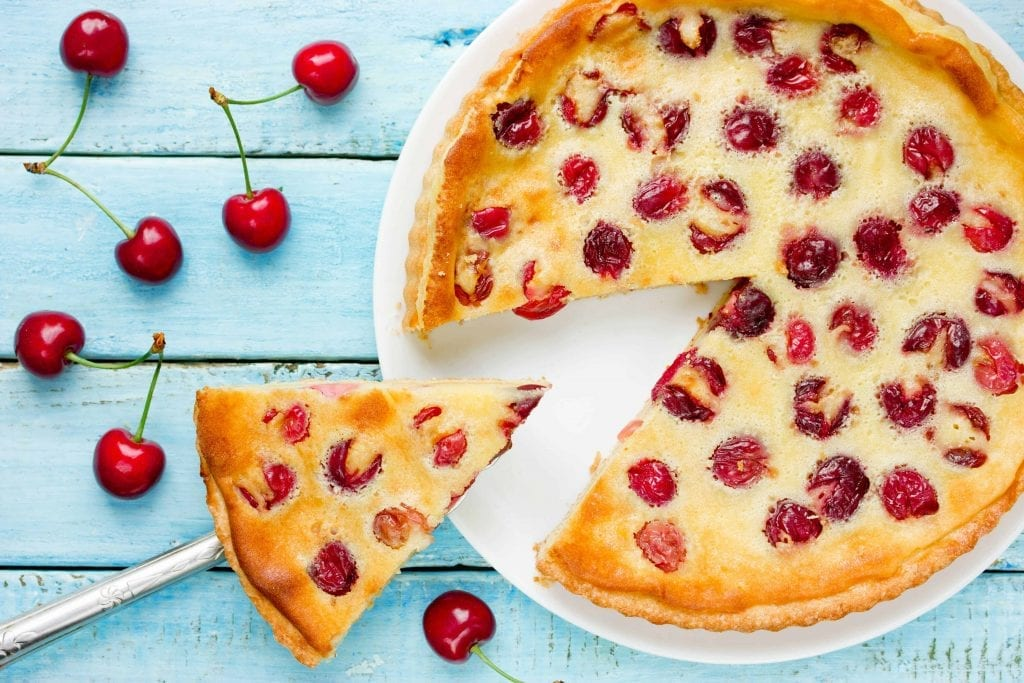 Creamy Cherry Custard Pie Recipe
