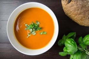 Creamy Tomato Soup with Chives Recipe
