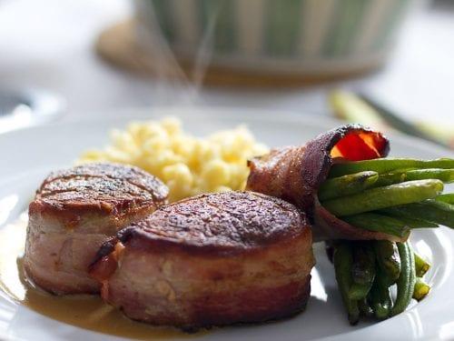 pork loin with honey glazed