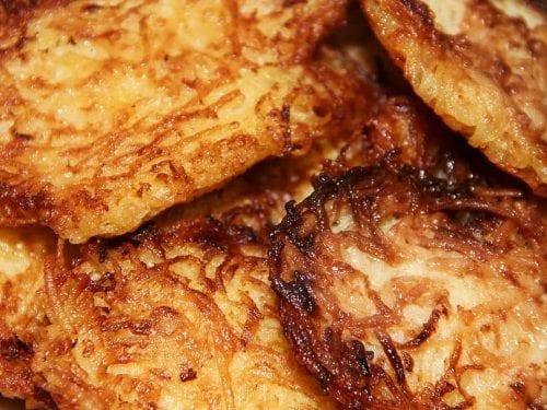crunchy potato latkes