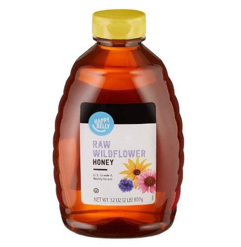 Amazon Brand - Happy Belly Raw Wildflower Honey