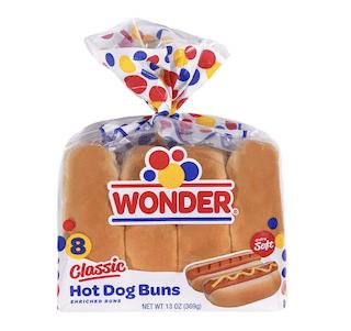 Wonder Hot Dog Buns