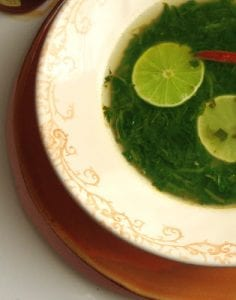 Mexican Spinach & Lime Soup Recipe