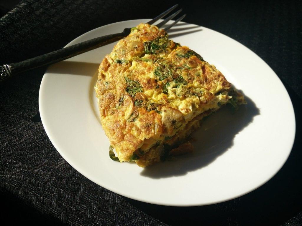 Spinach Pan Quiche Recipe