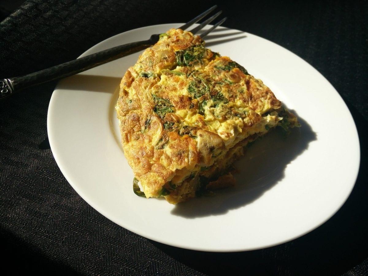 crispy fried spinach quiche