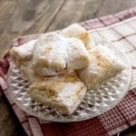 strawberry filled powdered puff pastry