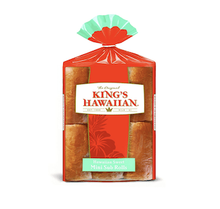 King's Hawaiian Sweet Mini Sub Rolls