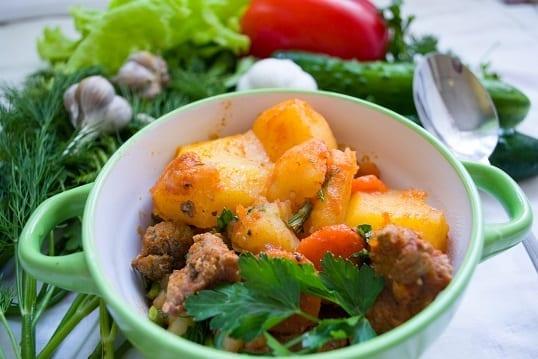 Sweet Potato and Wild Mushroom Irish Lamb Stew
